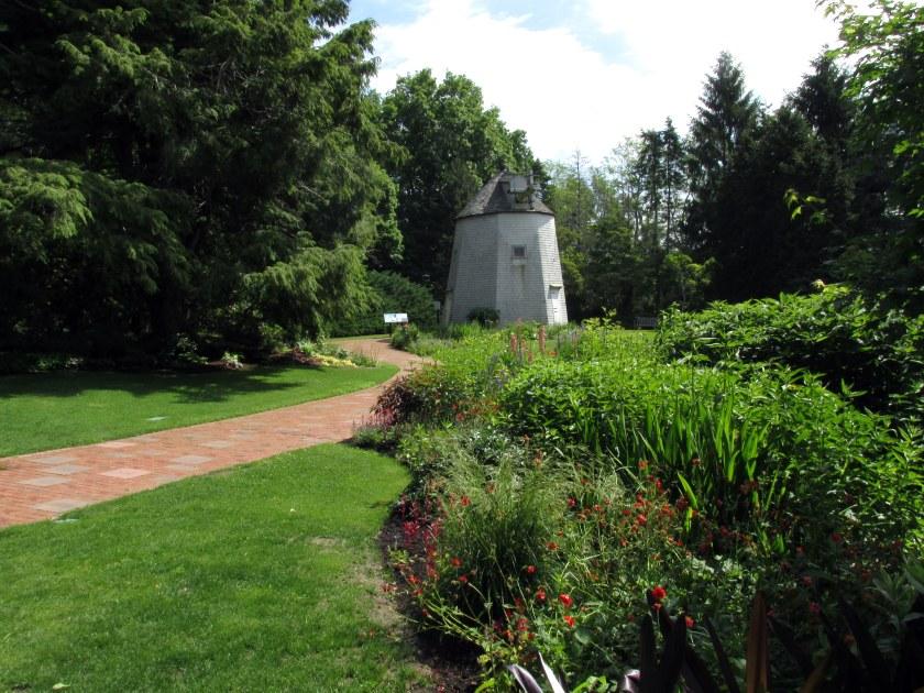 path through windmill garden