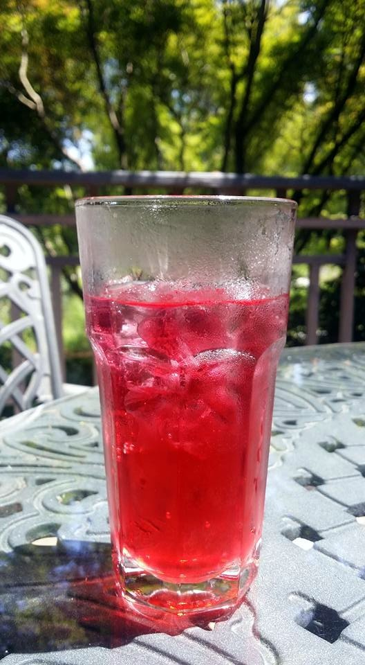 cherry limeade at tea house