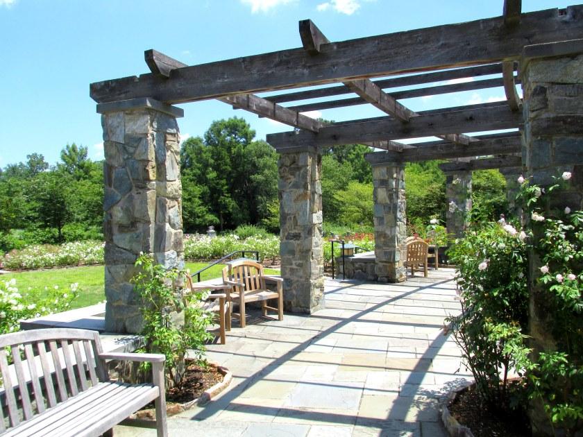 pavilion near rose garden