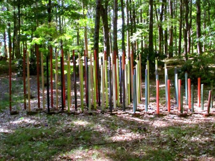 colourfulshrubariasculpturesticksbedrockgarden17sept2016