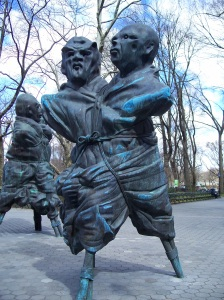 United Enemies sculpture, Central Park, NYC