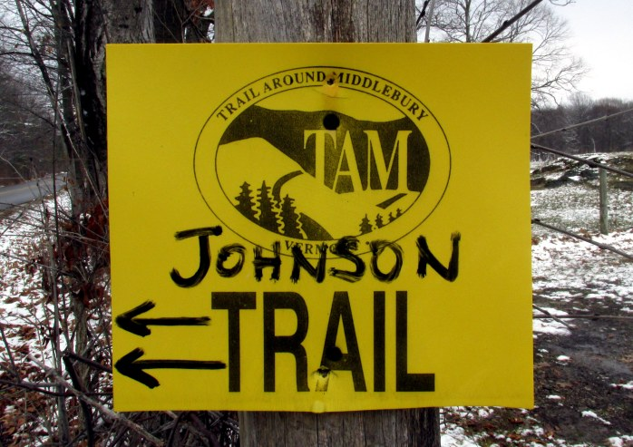 TAM trail sign
