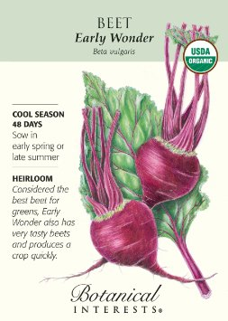 pretty beet seed packet