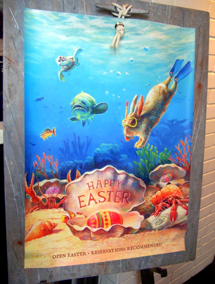 HappyEasterrabbitunderwaterLegalSeafoodsTestKitchenrestaurantBostonMA24March2017