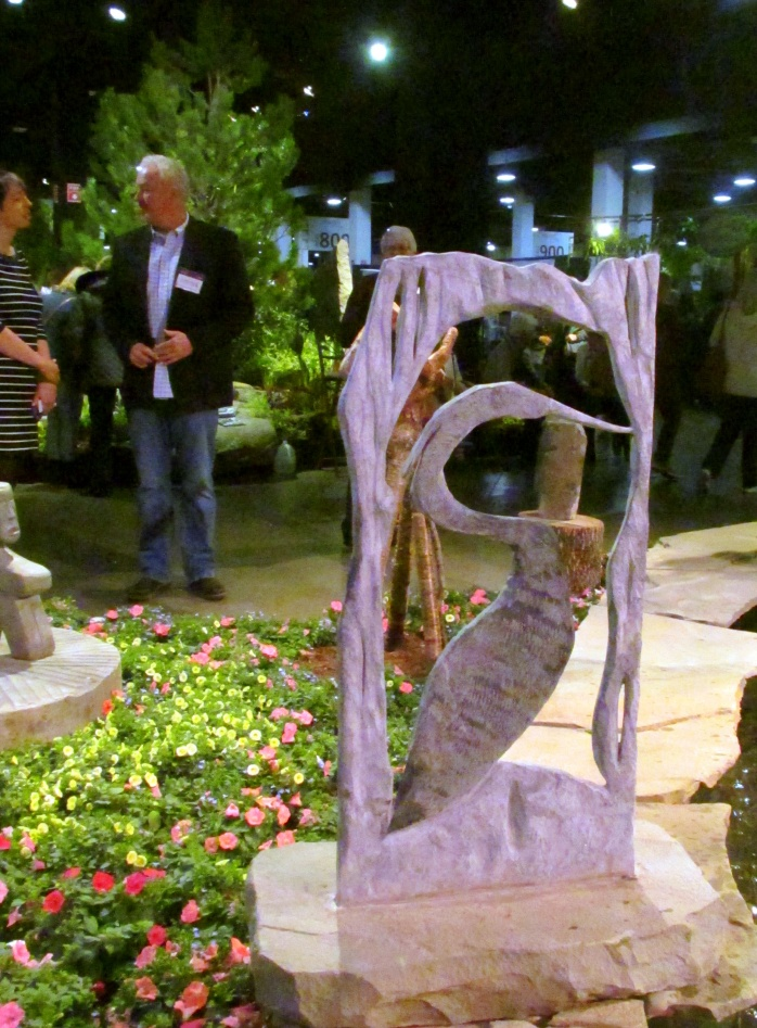 heronsculpturesculptorJosephGrayStoneworkBostonFlowerShow24March2017