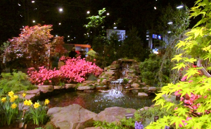 waterfeatureazaleasdaffodilsmaplesHeimlichNurseriesBostonFlowerShow24March2017