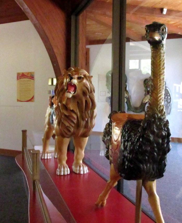 lionostrichcarouselanimalsHeritageMuseumSandwichMACC30April2017