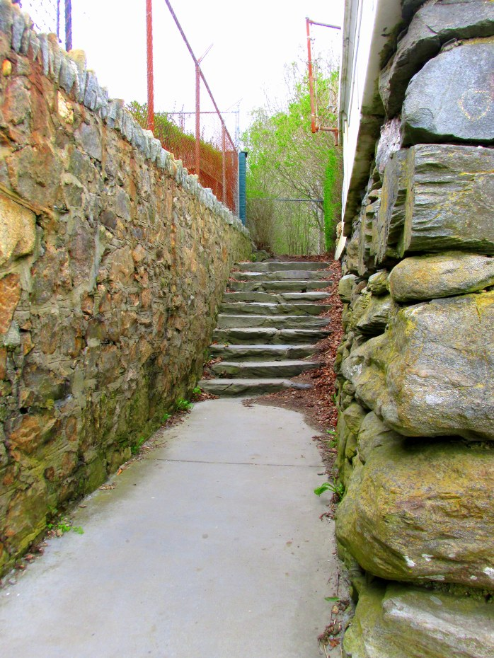 stairsrockwallCliffWalkNewportRI9May2017