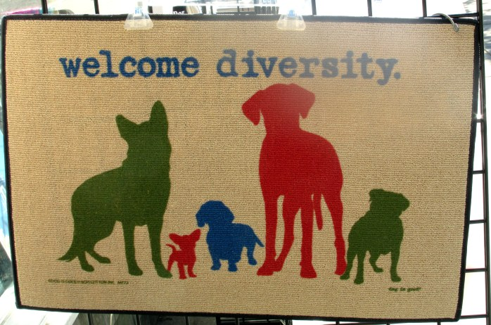 welcomediversitydogdoormatHyannisCapeCod17June2016