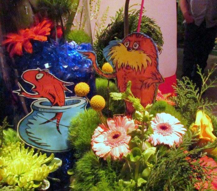LoraxfishflowersDrSeussMuseumflowershowBostonMA14March2018